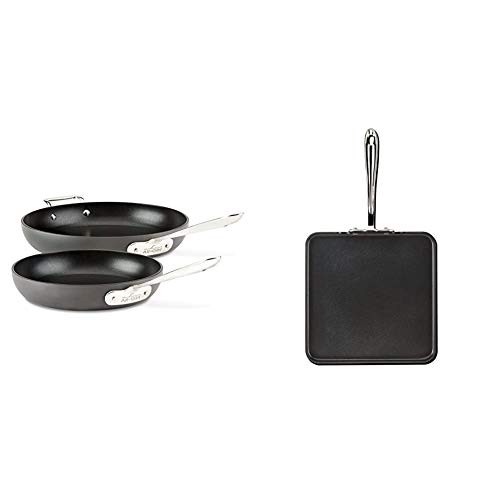 All-Clad E7859064 HA1 Hard Anodized Nonstick Dishwasher Safe PFOA, 2-Piece, Black