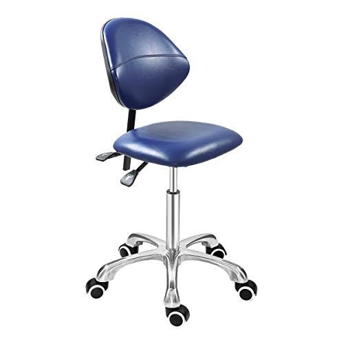 Grace & Grace Professional Office Series Height Adjustable with Ergonomic Tilting Backrest for Drafting,Computer,Studio,Workshop,Classroom, Lab, Counter (Classic, Royal Blue)