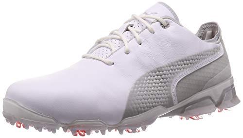 PUMA Herren Ignite PROADAPT Golfschuhe, White-Gray Violet, 42 EU