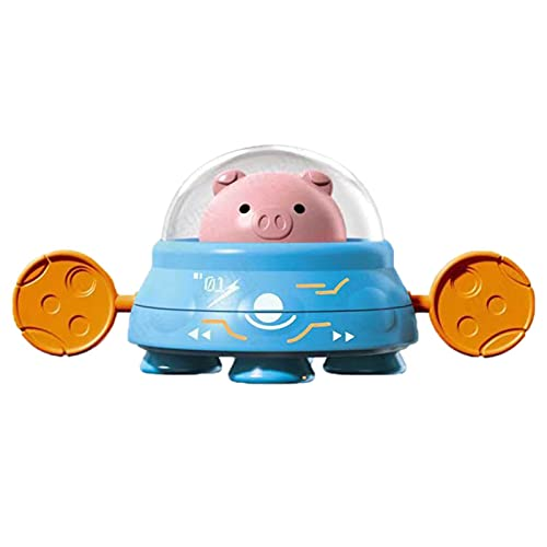 mooderf Baby BAÑO Juguetes Juego Ducha Baño Bebé Juguete Lindos Cerdos Montando Platos Voladores Juguete De Baño para 1 2 3 4 5 Años Niñas