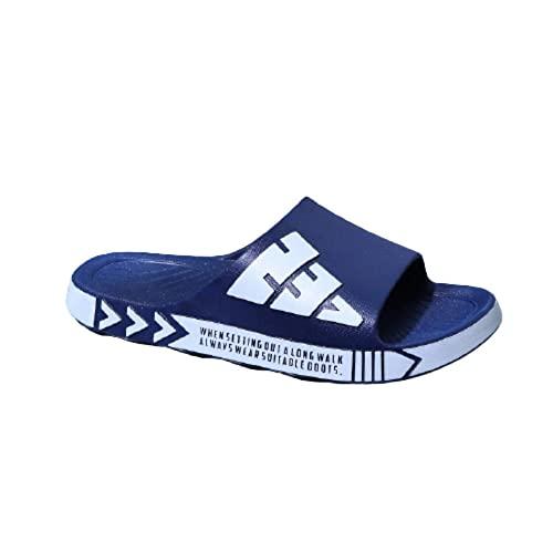 Anlemi Sandalias de Piso Casuales Antideslizantes,Chanclas Casuales para Uso Exterior,cómodas Zapatillas de baño Antideslizantes-Blue_44-45,Sandalias De Ducha Antideslizantes