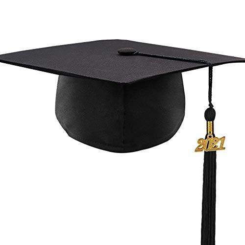 Panngu Doktorhut (Studentenhut) 2021 Jahreszahl Anhänger, Graduation Cap Unisex, Erwachsene Abiturmütze mit Quaste für Abschlussfeiern vom Studium, Universität, Hochschule, Abitur - Absolventenhut
