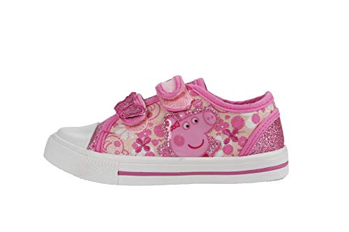 Peppa Pig Paramoor Pink and White Trainers Size 9