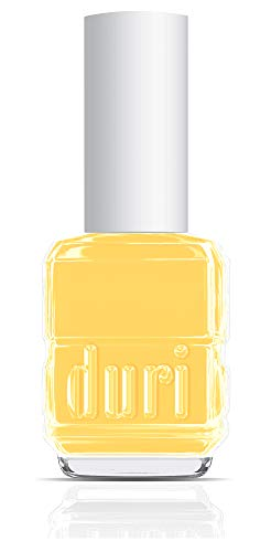 duri Nail Polish, 101S, Summer Dream, Pastel Yellow Shade, Semi Matte Finish, Full coverage, 0.5 fl.oz. 15 ml