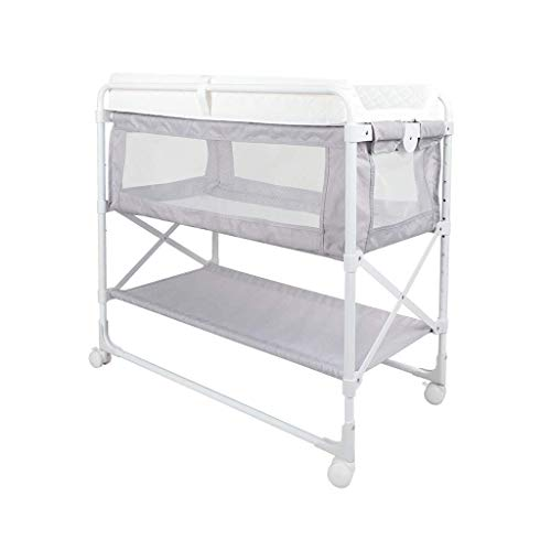 LZQBD Family Care/Folding-Baby-Windel Wickeltisch mit Storage Basket Tisch, Baby-Windel wechselt Station mit Rädern Changer Tray Massage-Station Babybett