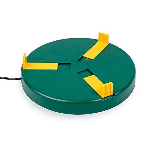 Olba Tränkenwärmer Ø20cm (24V, 12W) Heizplatte, Wärmeplatte für Geflügeltränken inkl. 230V Netzadapter, Frostschutz für Geflügel-Tränken, Hühnertränke, Tränke