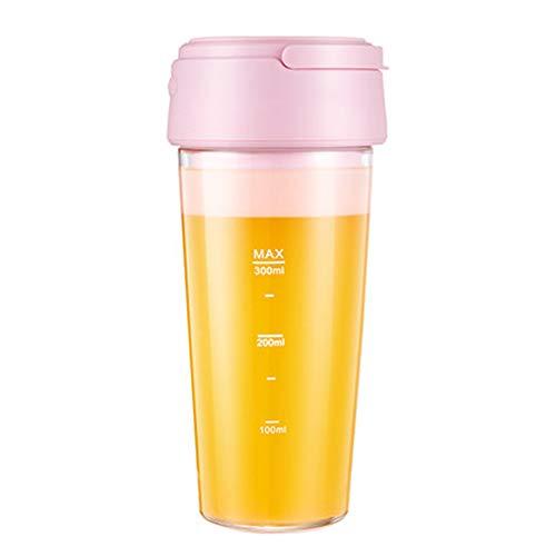 lijunjp Bicchiere per spremiagrumi Personale in Vetro, Portatile Ricaricabile USB, frullatore da Viaggio Piccolo Gratuito FDA BPA, Multifunzionale, per Cucina Domestica