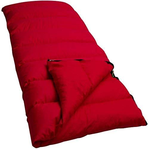 LOWLAND OUTDOOR Companion Economy Daunen Deckenschlafsäcke, Rot, 210x80 cm