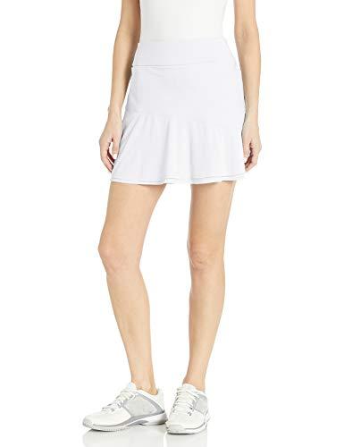 adidas Ultimate365 Knit Frill Skort Falda pantalón, Blanco, Small para Mujer