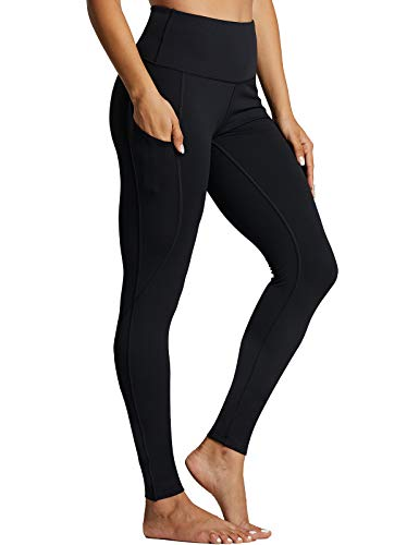 ZUTY Fleece Lined Leggings Women Winter Thermal Insulated Leggings with Pockets High Waisted Workout Yoga Pants-Black-XXL