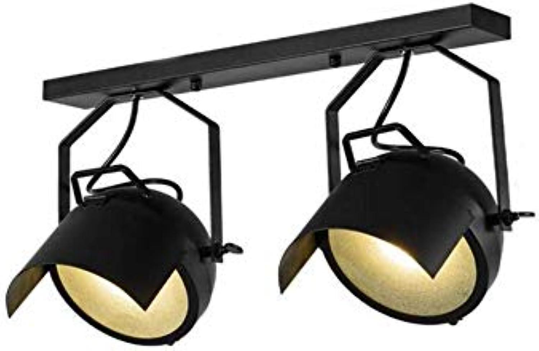 Retro Licht5W Spotlight Deckenleuchte Kronleuchter Pendelleuchte Schwarz 2 Lichter