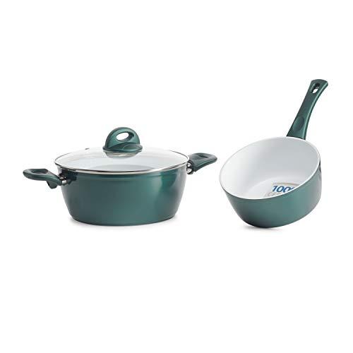 Genius Cerafit Fusion Töpfe smaragdgrün (3 Teile) der Cerafit Fusion-Kochtopf und die Stielkasserolle überzeugen durch ihre perfekte Verarbeitung und ihr hochwertiges Material