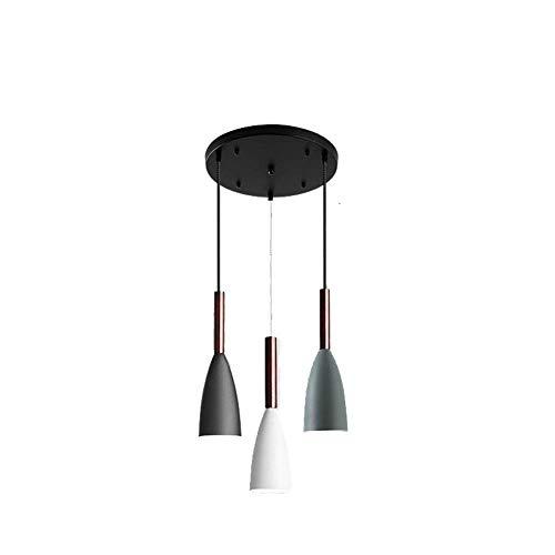 Lampadario semplice Piccolo lampadario a TRE Teste lampada da comodino per la Camera da letto del ristorante