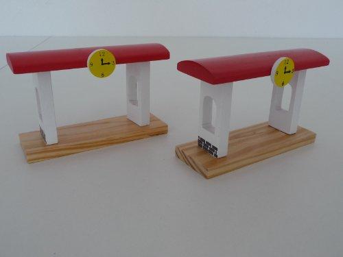 point-kids 2 trenes de madera para juguetes.