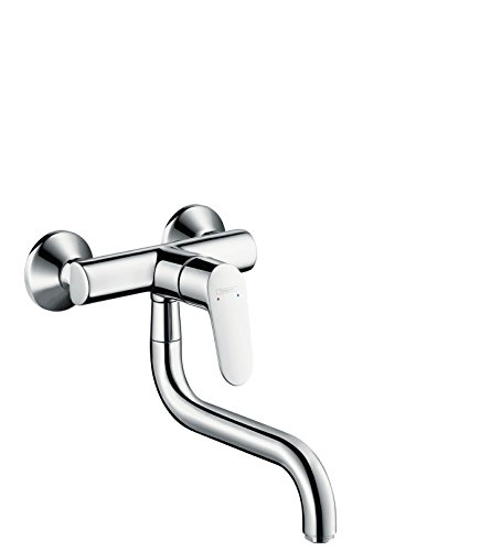 hansgrohe Focus kitchen tap with 180° swivel range, wall mounted, chrome 31825000