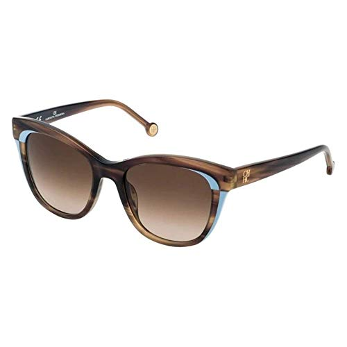 Carolina Herrera SHE7875206YZ Gafas, SHINY STREAKED BEIGE, 52/19/135 para Mujer