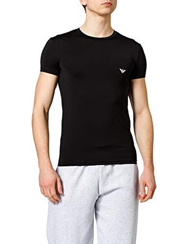Emporio Armani Underwear T-Shirt all Over Graphic Logo, Nero, M Uomo
