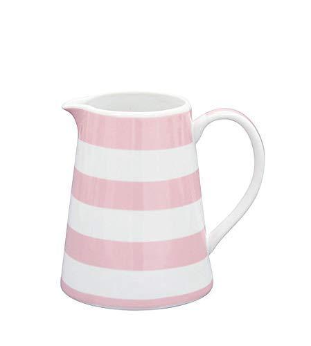 Krasilnikoff Milchkännchen Sahnekännchen Kanne Porzellan Creamer Happy Star Streifen pink Stripes Grey MIlchkanne NEU