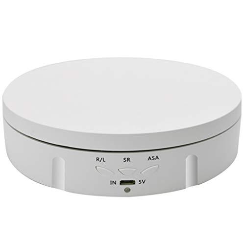 zhiwenCZW 3 Geschwindigkeiten 14,6 cm Intelligenter elektrischer rotierender Displayständer Spiegel Plattenspieler Schmuckhalter Batterie/USB-Stromversorgung