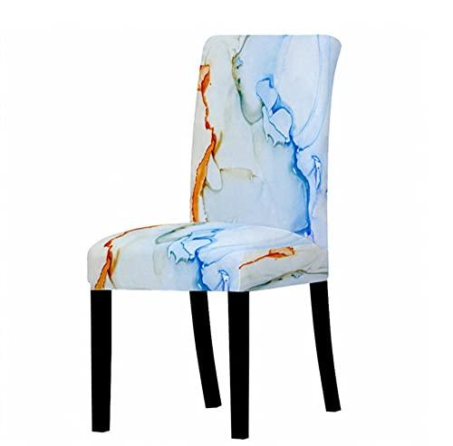 Colorato modello marmo sedia copre elastico Spandex Protector copertura sedia ufficio copertura anti-sporco per sala da pranzo nozze banchetto festa decorazione