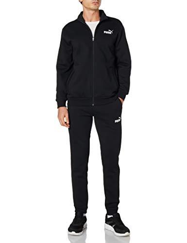 PUMA Clean Sweat Suit Trainingsanzug, Herren, Schwarz, XL