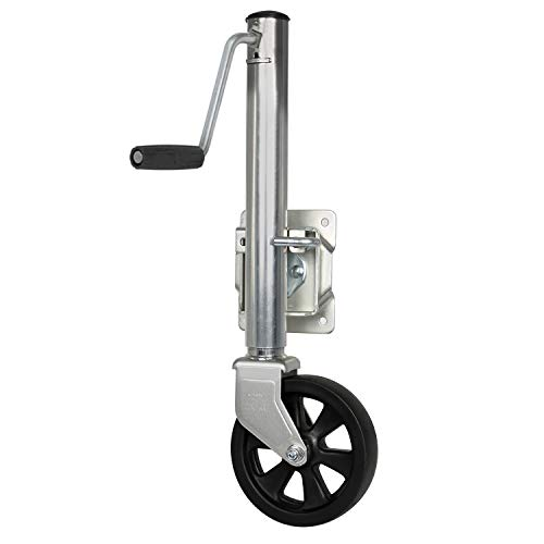 WEIZE Swivel Trailer Jack, Heavy Duty Boat Trailer Jack with Wheel, 1500 lbs Capacity