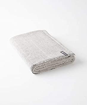 """Halfmoon Yoga Blanket 100% Cotton 60"""" x 80"""" Carbon Weave - Handwoven Blankets & Throws with Flat Selvage Edges for Home Yoga Practice - Large Vintage Blanket - Premium Meditation Room Decor"""