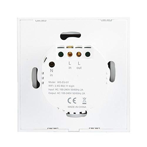 VINGVO Interruptor LED, Interruptor táctil de Pared con Carcasa de abs para envejecimiento de Impacto, para Pared casera(Black Cover 1 Road, Transl)