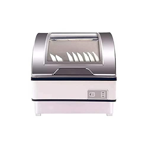 Sdesign Lavaplatos Totalmente automática, lavavajillas encimeras Independientes con configuración de 6 Lugares: Tapa de Mesa Disinfección Lavavajillas, Toque el botón 360 Grados