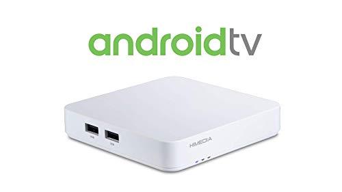 HIMEDIA Android TV Box S500 4K (Ultra-HD) HDR10 - Mini PC (Quadcore-CPU, HDMI 2.0b, Dualband WLAN-AC, Bluetooth 4.2), Color Blanco