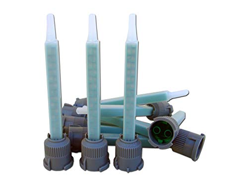 STC ® Mischerdüsen 1:1 Mischdüse Mischerspitzen Mixtülle Kunststoffkleber Mischertülle für 2K-Kleber, Statikmischer für 2 Komponenten Kleber passend für 25 g / 24 ml und 50 g / 50 ml (5 Stück)