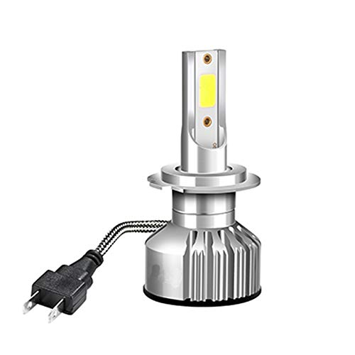 YEZHENGHUA Yzhua H7 LED CABETE CABEZ Cabeza LÁMPARA LED Faros Lámpara LED H4 H7 LED H8 HB4 HB4 HB3 9006 Lámpara de Niebla (Color : 6500k, Emitting Color : 1pc Lamp)