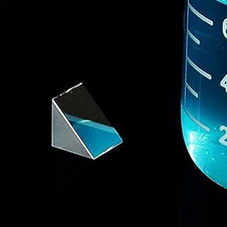 WHHHuan 1 prismes triangulaires en verre optique 10 mm x 10 mm x 10 mm à angle droit - Prismes isocélaires - Instrument de...