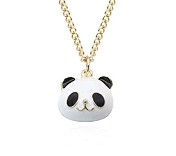 Artmiss Lovely Animal Necklace Gold Panda Pendant Necklace CuteNecklace for Women and Gift for Best Friends  Panda