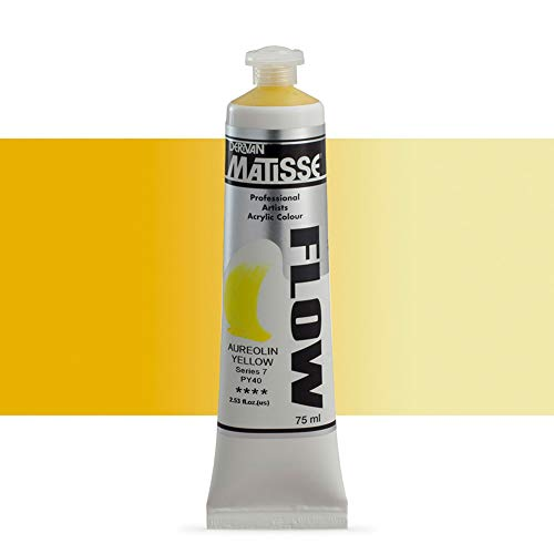 Matisse Flow Acrylic 75 ml Tube - Aureolin Yellow