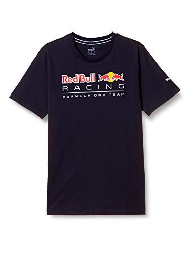 PUMA RBR Logo tee Camiseta, Hombre, Negro, L