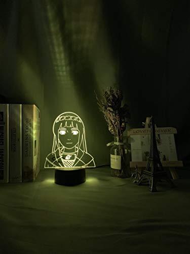 Luz nocturna 3D para niños Niña Dormitorio Decoración 3D Lámpara Naruto Hinata Hyuga Figura de 16 colores Cambio de batería USB Led Luz Naruto ZGLQ