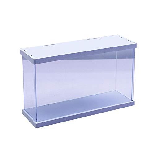 LM-Coat rack XINGLL Acrílico Vitrina Transparente, Caja Protección Prueba Polvo, Cubo Apilable para Coleccionables Figuras Juguetes Modelos, Almacenamiento Muñecas Cosméticas, Color Blanco