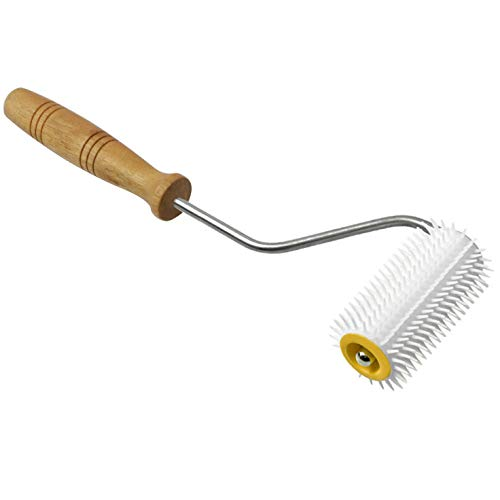 Longdex Honey Extractor Uncapping Plastic Needle Roller with Wooden Handle...