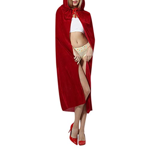Halloween Little Red Riding Hood Cosplay Costumes Carnival Masquerade Woman Red Dress+Cloak Stage Fancy Wear Clothing Set