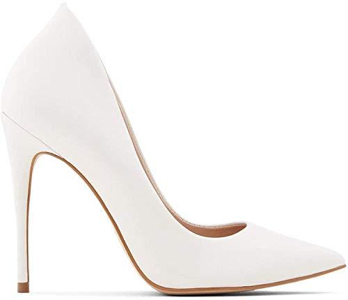 ALDO Women's Cassedy Dress Heel Shoes Stiletto Pump, White, 7