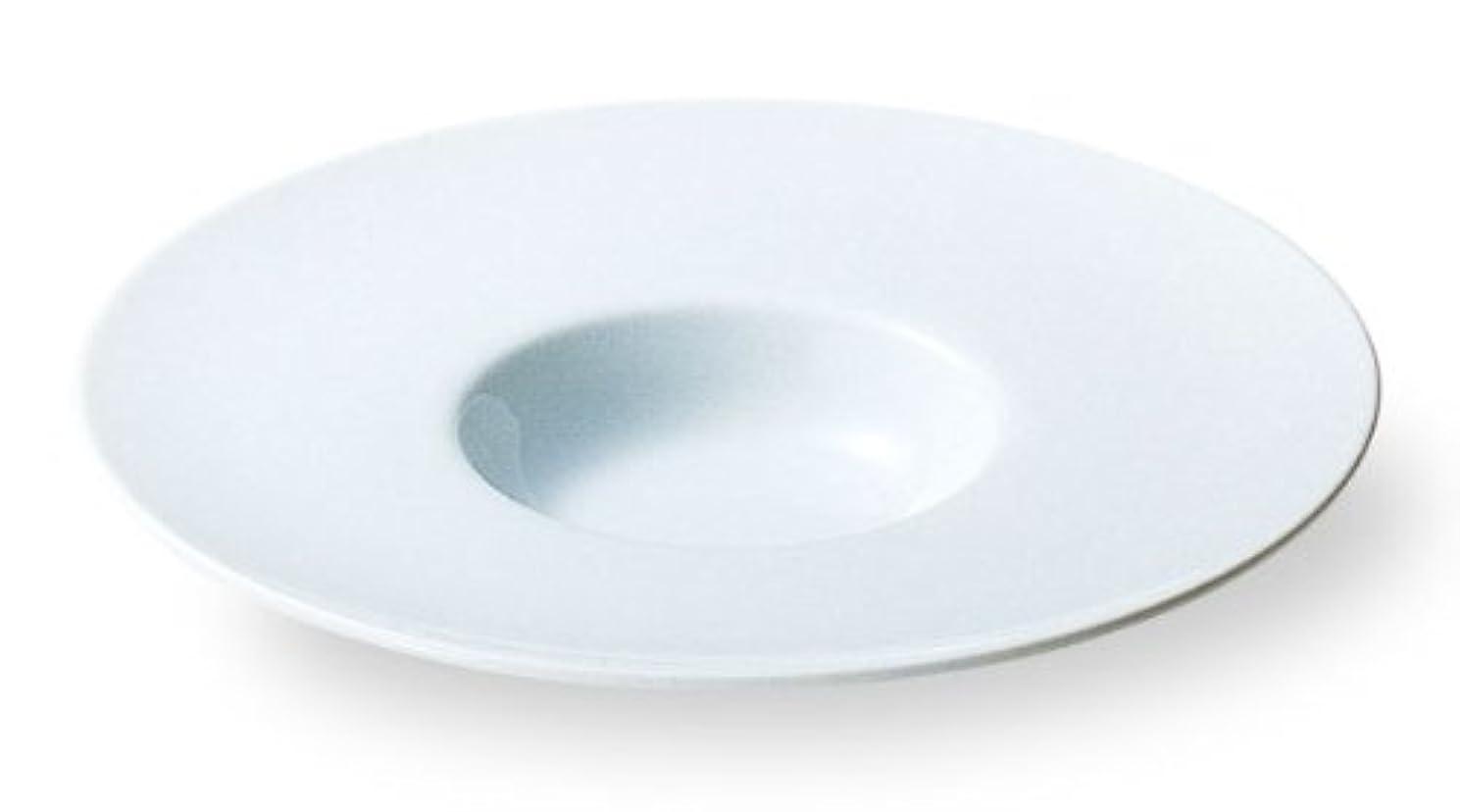 バリアアシスト誘うカネスズ セラミックス パスタ皿 白 ワイドリム 29cm平型スープ皿 日本製 50100826