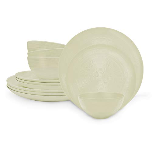 Melamine 12-Piece Dinnerware Set