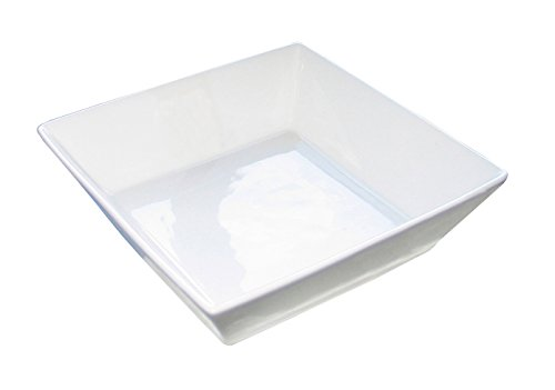Eñe Chun Assiette Creuse carrée, 27 cm Blanc