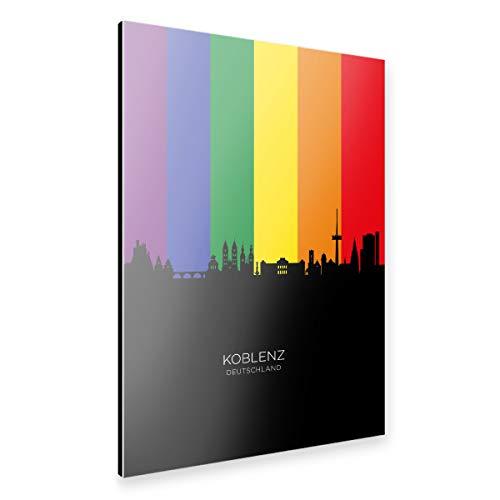 artboxONE Alu-Print 90x60 cm Koblenz Germany Skyline Pride von Künstler Michael Tompsett