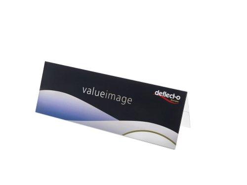 Deflecto 778701 - Portanombres sobremesa PVC, A5