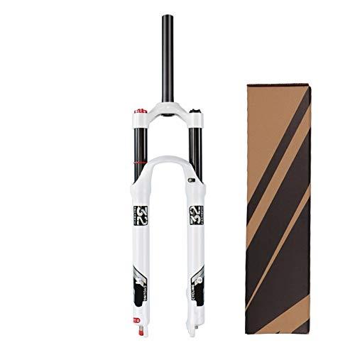 """VPPV Horquilla de Bicicleta MTB 26/27,5 Pulgadas, 140mm Aleación Aluminio 1-1/8"""" Tubo Recto Bicicleta Cuesta Abajo Suspensión Horquillas Dirección (Color : Straight Tube, Size : 27.5 Inch)"""