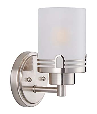 Doraimi Wall Sconce Lighting with with Frosted Glass Brushed Nickel