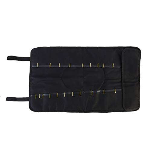PIXNOR Rolltasche Werkzeugrolltasche Werkzeugtasche Zange Schraubenzieher Schraubenschlüssel Tasche (Schwarz)