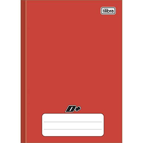 Tilibra D+ - Caderno Brochura Capa Dura, 1/4 Pequeno, 14x20cm, 96 Folhas, Vermelho